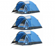 Kampa Brighton 4 Man Tent (Pack of 3)